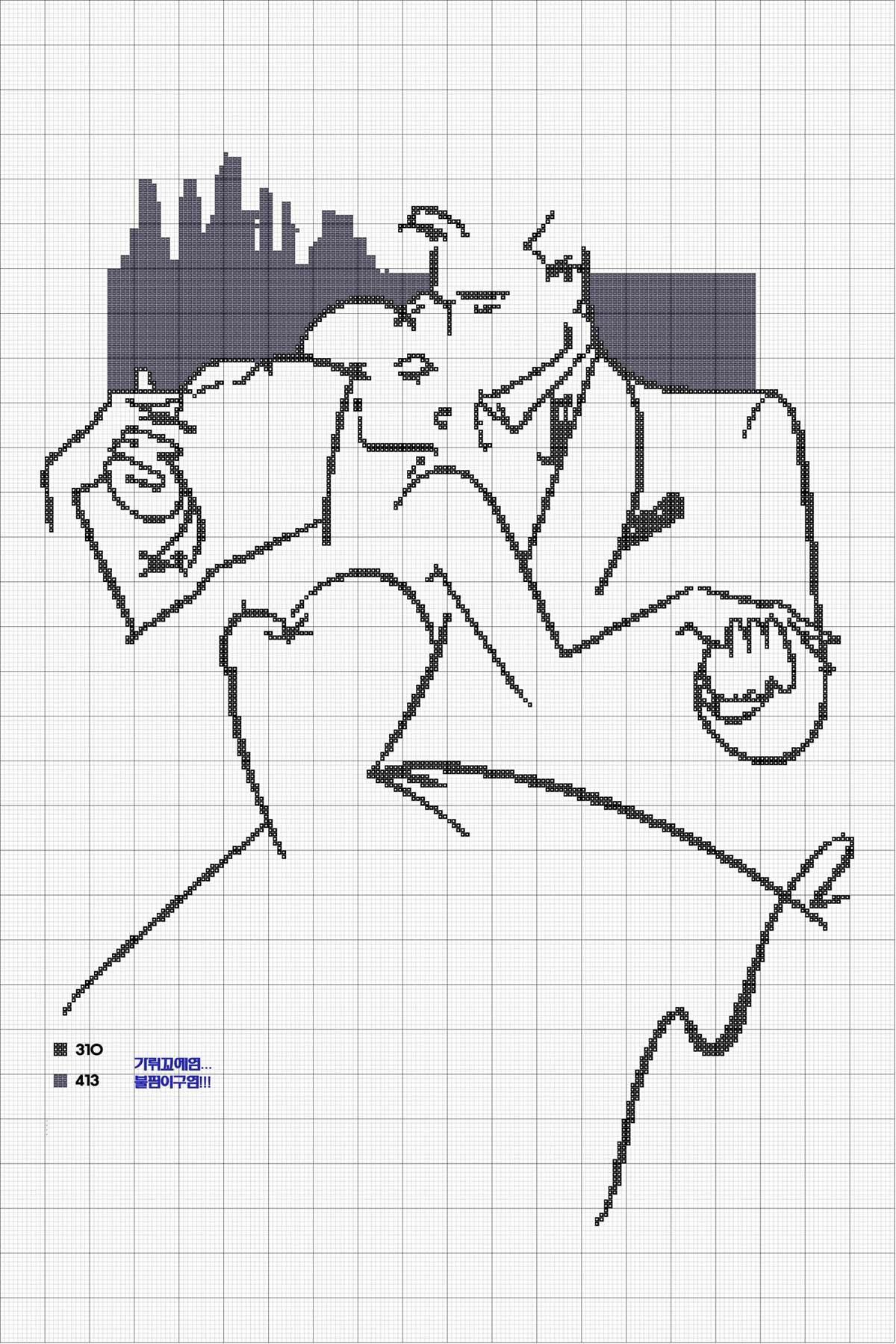 Монохромная вышивка крестом схемы мужчина и женщина 89